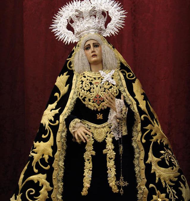 ESTRENOS DEL NUEVO AJUAR DE MARÍA SANTÍSIMA DEL MAYOR DOLOR